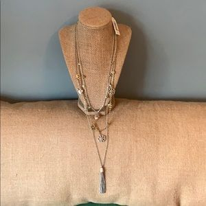 New! Lucky 3 tier necklace